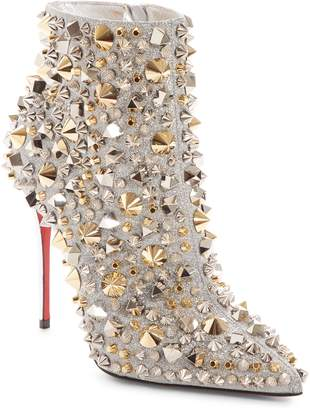 Christian Louboutin So Kate Studded Glitter Bootie