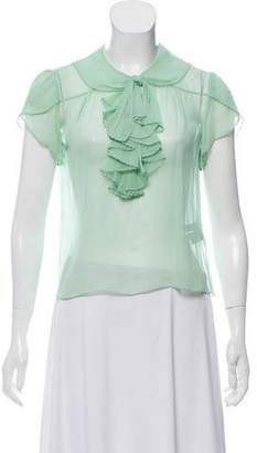 Ralph Lauren Silk Ruffled Blouse