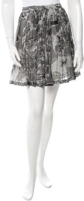 Boy. by Band of Outsiders Printed Mini Skirt w/ Tags $145 thestylecure.com