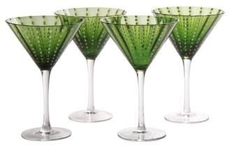 Beachcrest Home Blue Hill Martini Glass
