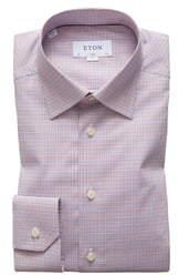 Eton Slim Fit Check Dress Shirt