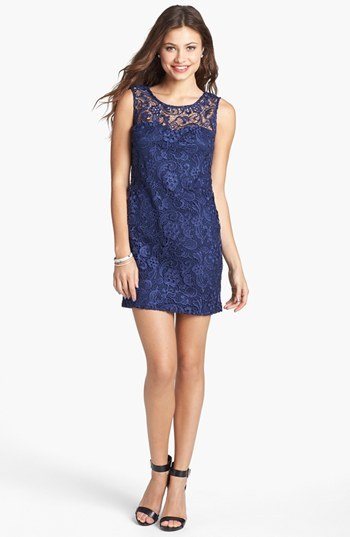 As U Wish Illusion Lace Minidress (Juniors)