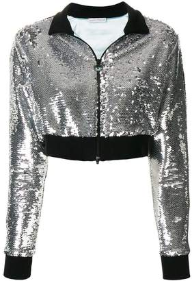 478bc187 Chiara Ferragni cropped sequinned jacket