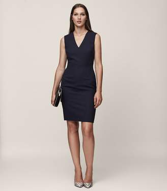 Reiss Faulkner Dress Tailored V-Neck Dress