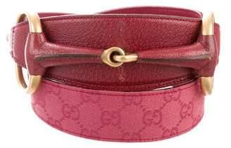 Gucci GG Canvas Horsebit Waist Belt