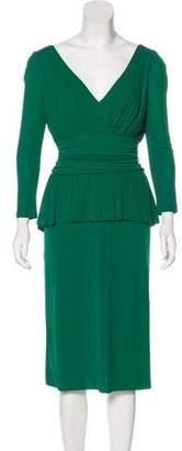 Alexander McQueen Long Sleeve Midi Dress