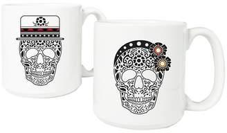 Cathy Halloween Sugar Skull Mugs - 2ct