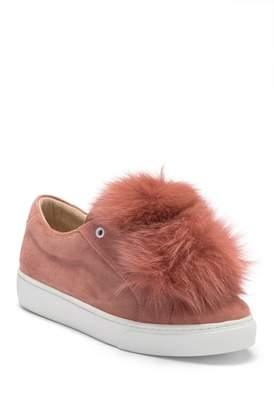 Here \u002F Now Audrey Genuine Fox Fur Slip-On Sneaker