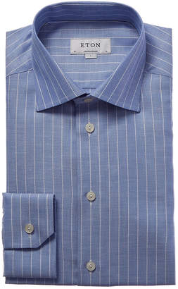 Eton Linen-Blend Contemporary Fit Dress Shirt