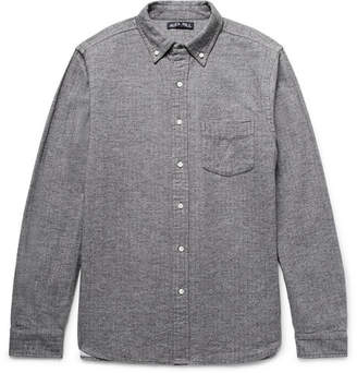 Alex Mill Button-Down Collar Herringbone Cotton-Flannel Shirt