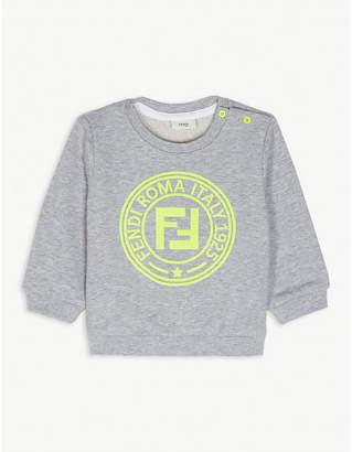 Fendi Neon logo cotton crew sweatshirt 6-24 months