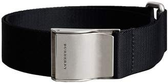 Burberry Plaque Buckle Nylon Belt