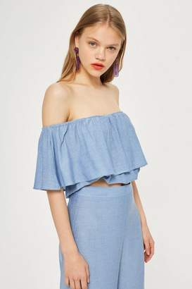 Oh My Love **Frill Front Crop Top