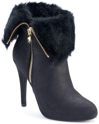 Jennifer Lopez Women's Foldover High Heel Ankle Boots $89.99 thestylecure.com