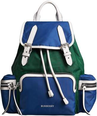 Burberry The Medium Rucksack in Colour Block Nylon and Leather