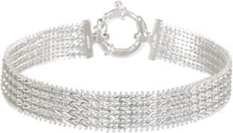 "Imperial Silver 6-3/4"" Wide Wheat Bracelet, Sterling 15.8g"