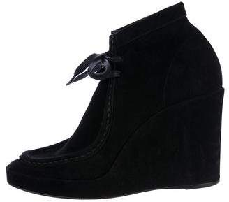 Balenciaga Moccasin Wedge Ankle Boots