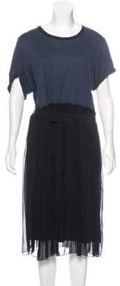 Lanvin Short Sleeve Belted Dress