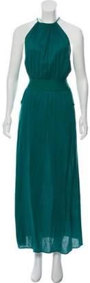 Eres Sleeveless Maxi Dress Green Sleeveless Maxi Dress