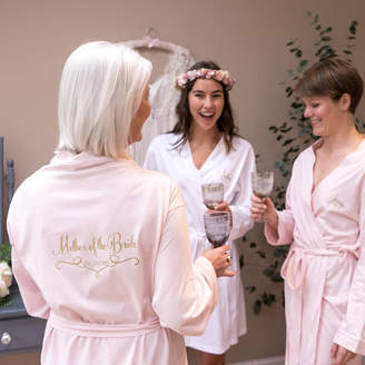 Sparks And Daughters Personalised Wedding Dressing Gown For A Bridesmaid