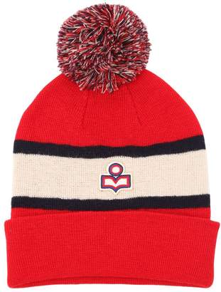 Etoile Isabel Marant Logo Two Tone Wool Knit Hat