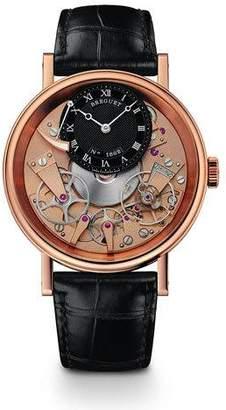 Breguet Tradition 18k Rose Gold Skeleton Watch w/ Alligator Strap
