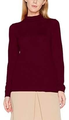 Gant Women's Fine Merino Turtleneck Sweater Jumper (Light Grey Melange), (Manufacturer Size: M)