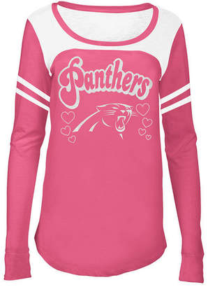 5th & Ocean Carolina Panthers Pink Slub Long Sleeve T-Shirt, Girls (4-16)