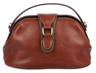 Mark Cross Bicolor Leather Satchel