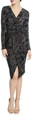 Rachel Roy Silvia Printed Faux Wrap Sheath Dress