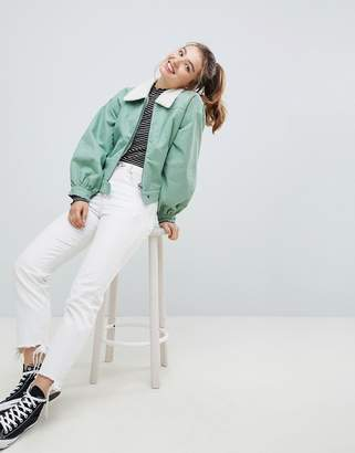 Asos Utility Jacket with Fleece Collar