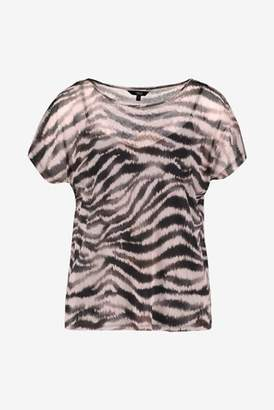 Next Womens Animal Print Mesh T-Shirt With Cami