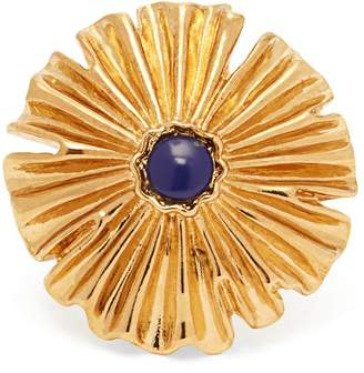 Aurelie Bidermann Sofia flower gold-plated ring