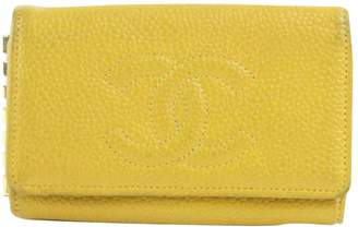 Chanel Vintage Yellow Leather Purses, wallets & cases