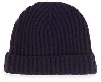Loro Piana Ribbed Cashmere Beanie Hat