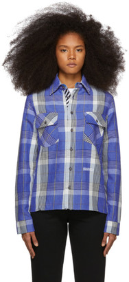 Off-White Off White Blue Check Shirt