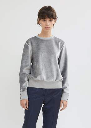 Thom Browne Relaxed Fit Velvet Crewneck