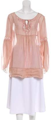 Blumarine Embellished Long Sleeve Blouse