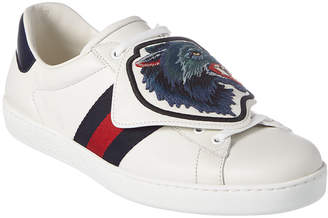 Gucci Ace Removable Patches Leather Sneaker