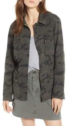 James Perse Camo Cotton Military Jacket