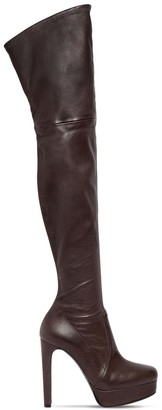 Casadei 120MM NAPPA LEATHER OVER THE KNEE BOOTS