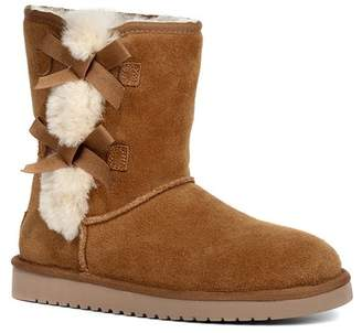 Koolaburra BY UGG Victoria Short Genuine Sheepskin & Faux Fur Boot (Women)
