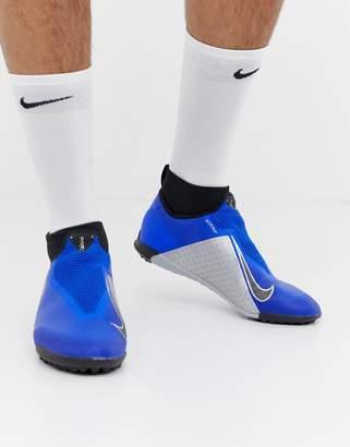 Nike Football React Phantom Pro Astro Turf Sneakers In Blue AO3277-400
