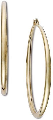 "INC International Concepts I.N.C. Extra Large 2.5"" Gold-Tone Hoop Earrings"