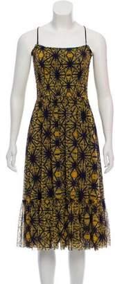 Jean Paul Gaultier Soleil Sleeveless Tie-Dye Printed Dress