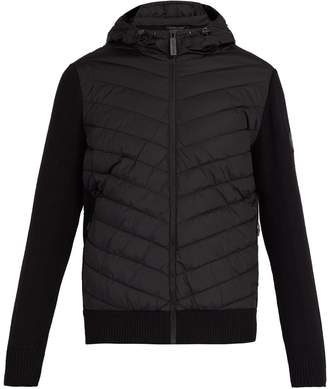 Canada Goose HyBridge wool-knit and quilted-down jacket