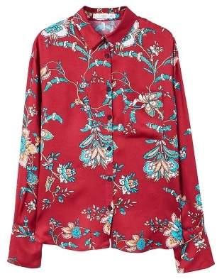 MANGO Floral print shirt