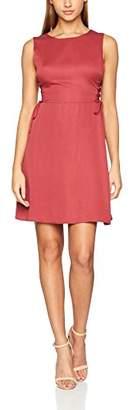 PepaLoves Women's Cala Raspberry Casual Dress, Red (Raspberry), L
