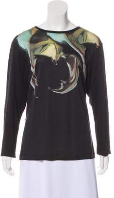 Barbara Bui Printed Long Sleeve Top