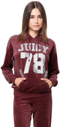 Juicy Couture Velour Juicy 78 Hooded Pullover